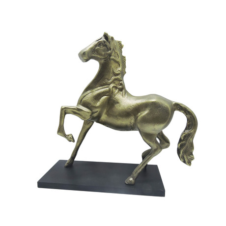 Horse Statue // Antique Brass Finish