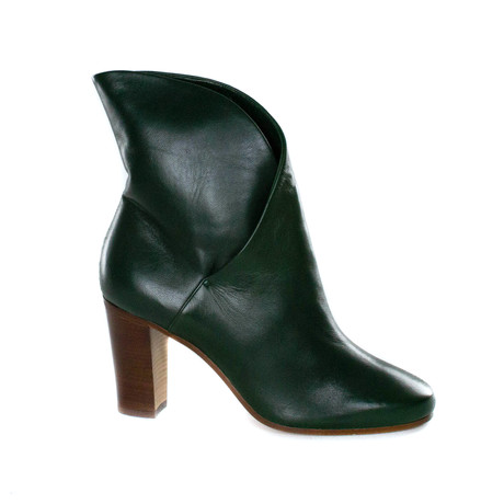 Leather Ankle Boot // Dark Green (Euro: 35)