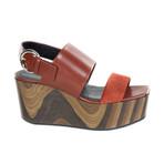 Platform Sandal // Brown (Euro: 40)