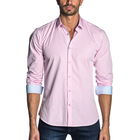 Long Sleeve Shirt // Pink Gingham (S)