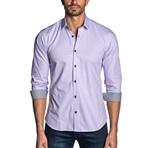 Ethan Check Long Sleeve Shirt // Purple (3XL)