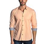Noah Check Long Sleeve Shirt // Orange (XL)
