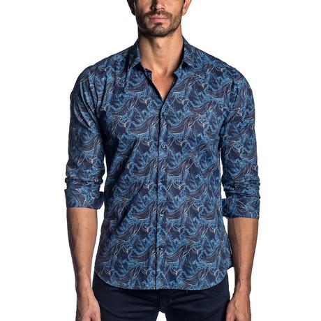 Long Sleeve Shirt // Blue Print (S)