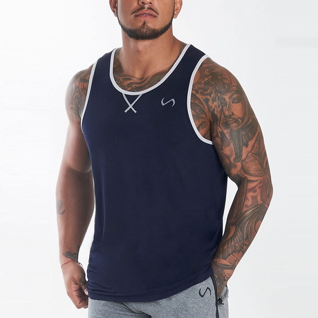 Daytona Tank // Deep Navy (XL)