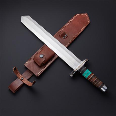 Turquoise Viking Short Sword Dagger