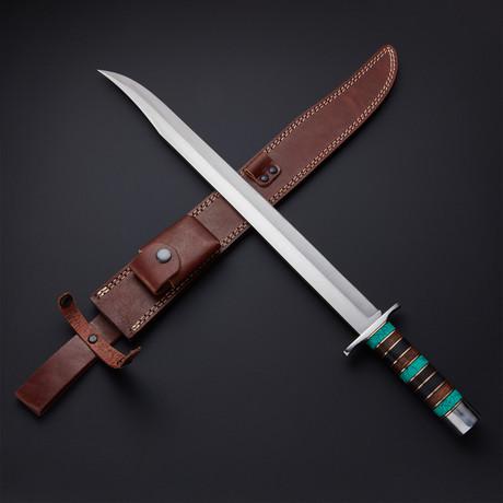 Turquoise Modern Cutlass Short Sword