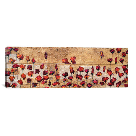 "Poppies Oizzontale Segatura (36""W x 12""H x 0.75""D)"