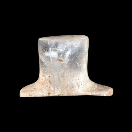Quartz Crystal Aztec Labret // Mexico Ca. 1300-1521 CE