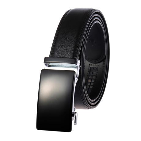Richard Leather Belt // Black Belt + Black Buckle