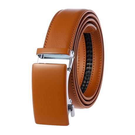 Harold Leather Belt // Tan Belt + Tan Buckle