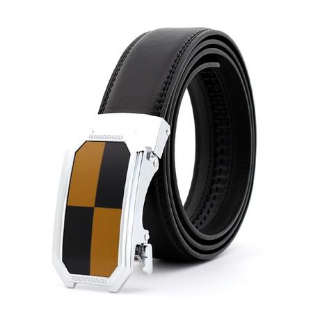 Henry Leather Belt // Brown Belt + Brown + Black Buckle