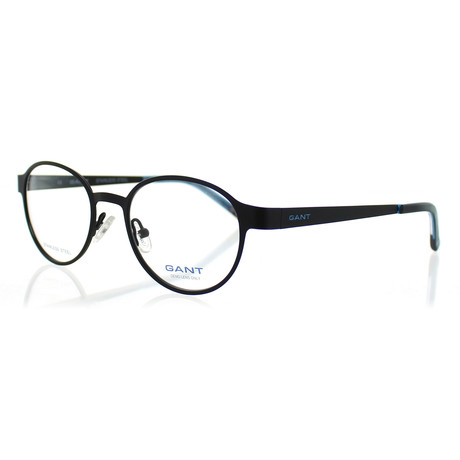 Men's 3045-P93 Round Satin Frames // Black