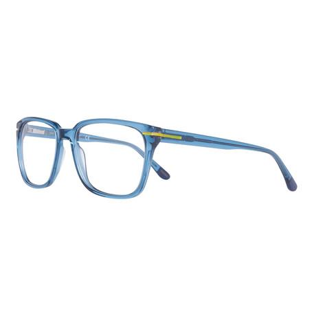 Men's 3105-090 Square Shiny Frames // Blue