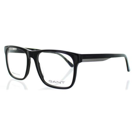 Men's 3122-001 Square Shiny Frames // Black