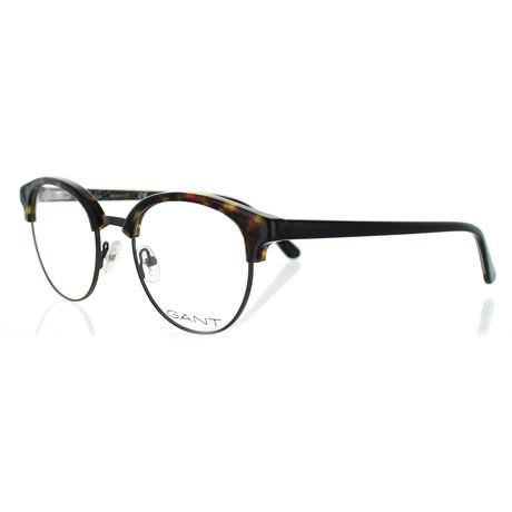 Gant // Men's 3162-052 Round Frames // Dark Havana + Gunmetal