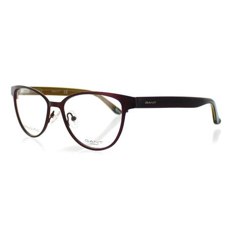 Women's 4055-070 Cat-Eye Frames // Matte Bordeaux