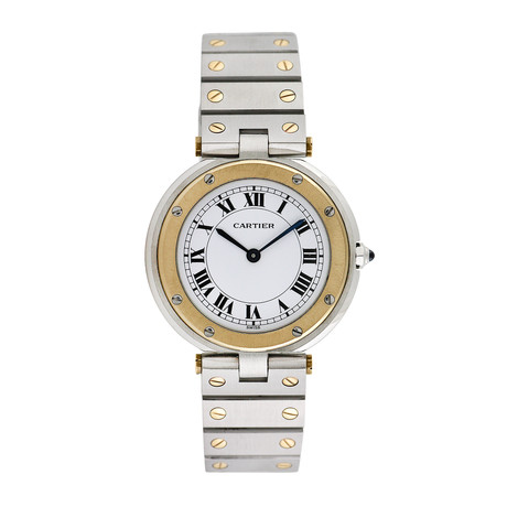 Cartier Ladies Santos Round Midsize Quartz // Pre-Owned