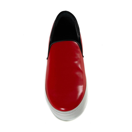 Slip-On Sneaker // Red + Black (Euro: 35)