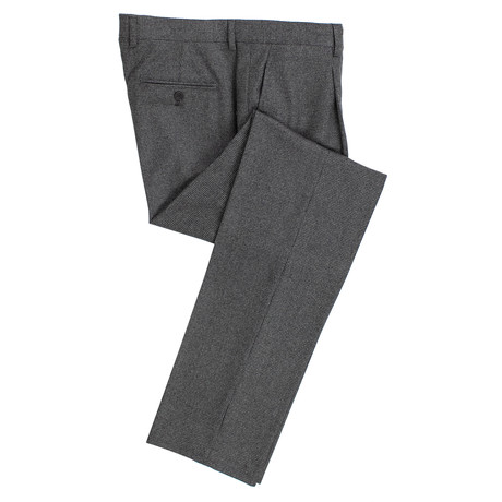Brunello Cucinelli // Wool Houndstooth Dress Pants // Gray + Black (56)