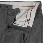 Brunello Cucinelli // Wool Houndstooth Dress Pants // Gray + Black (56)