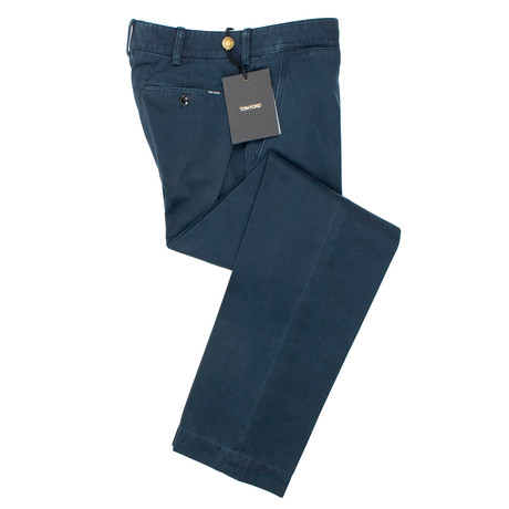 Tom Ford // Cotton Classic Fit Pants // Navy Blue (29)