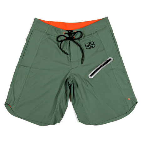 Hunter Olive Trunks // Green + Orange (S)