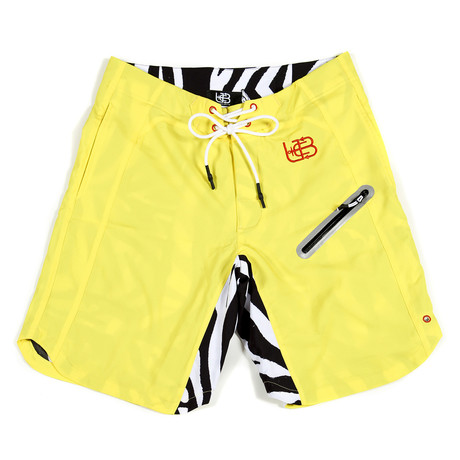 Yellow Zebra Trunks // Yellow + Black + White (S)