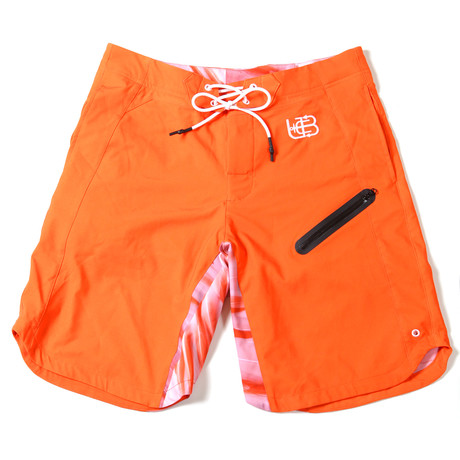 Orange Flamingo Trunks // Orange + Flamingo (S)
