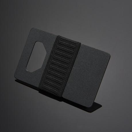 Spine Wallet // Black Titanium