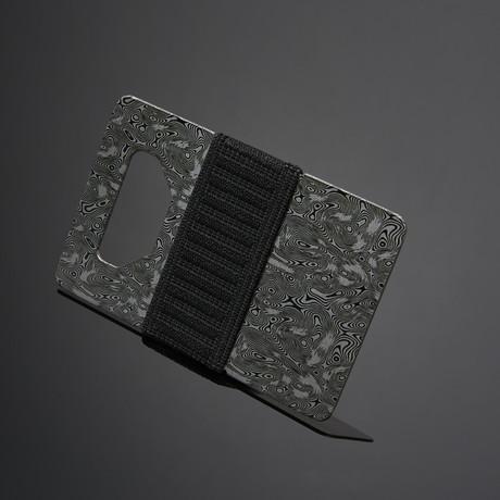 Spine Wallet // Damascus Steel