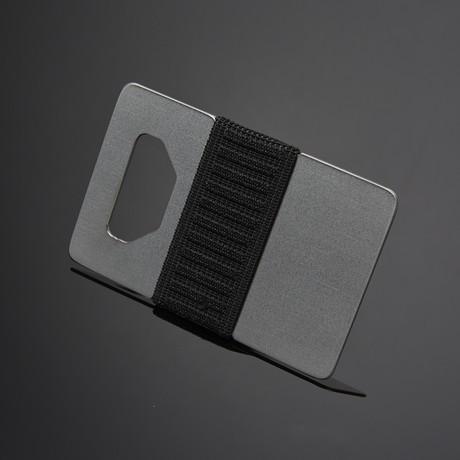 Spine Wallet // Industrial Titanium