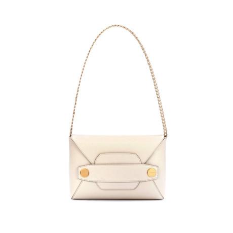Stella McCartney // Popper Shoulder Handbag // White