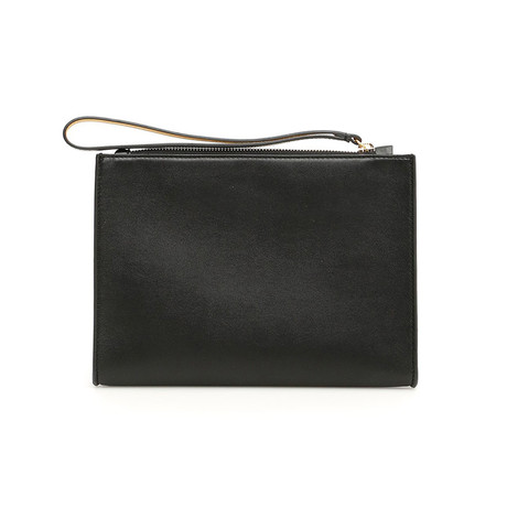 Stella McCartney // Logo Clutch Handbag // Black