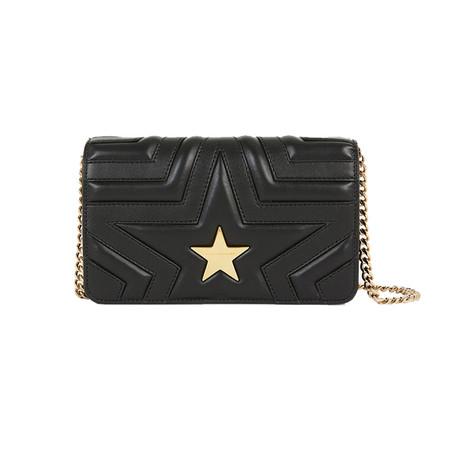Stella McCartney // Flap-Over Shoulder Handbag // Black