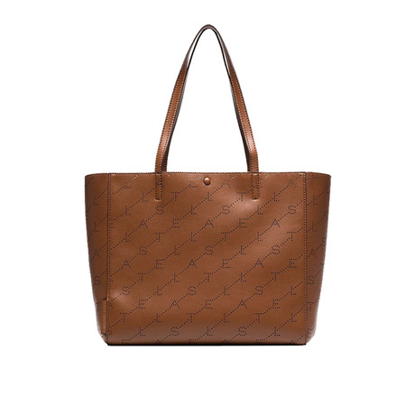 Stella McCartney // Monogram Medium Tote Handbag // Brown