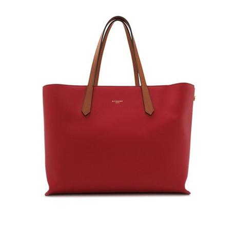 Givenchy // Leather GV Medium Shopper Handbag // Red