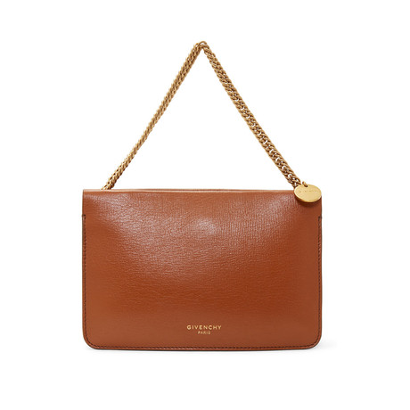 "Givenchy // Grained Leather and Suede ""Cross3"" Body Handbag // Brown"