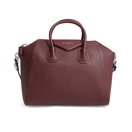 Givenchy // Leather Antigona Medium Satchel Handbag // Burgundy