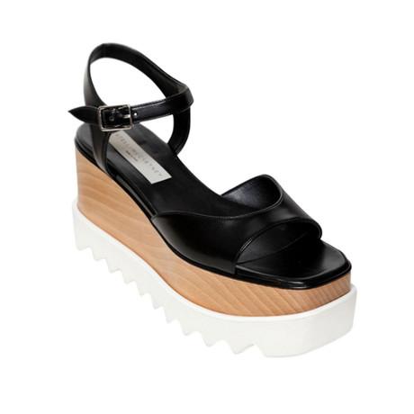Stella McCartney // Platform Elyse Sandal Shoes // Black (US: 6)