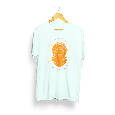 Cloud Diver T-Shirt // Teal + Orange (S)
