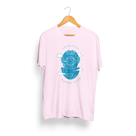 Cloud Diver T-Shirt // Pink + Blue (S)