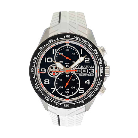 Graham Silverstone RS Racing Chronograph Automatic // 2STEA.B12A WHITE STRAP // Store Display