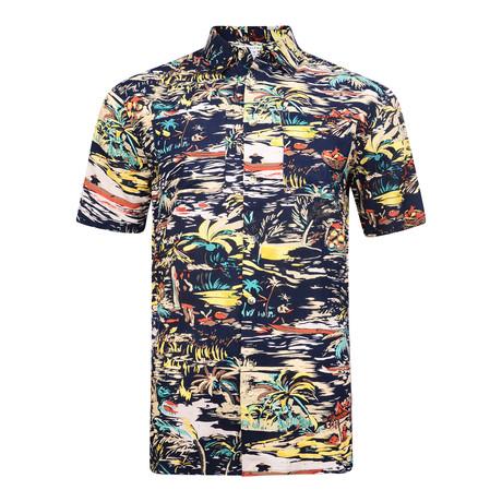 Condesa Short Sleeve Shirt // Navy (S)
