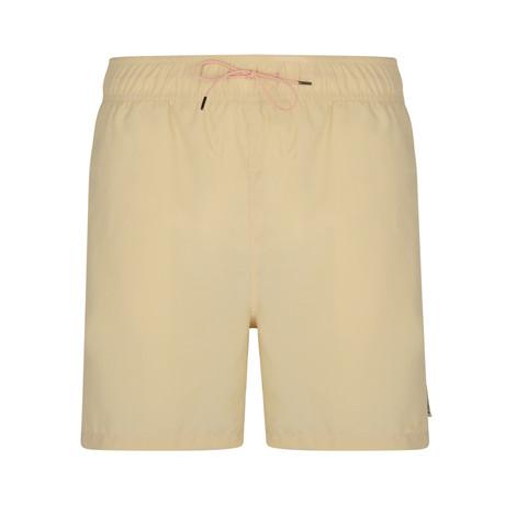 Drewy Basic Swim Shorts // Washed Beige + Pink (S)