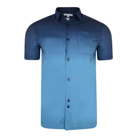Elias Dip Dye Short Sleeve Shirt // Navy (S)