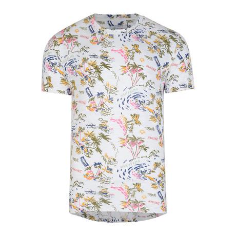 Gurya All Over Print Tee // White (S)