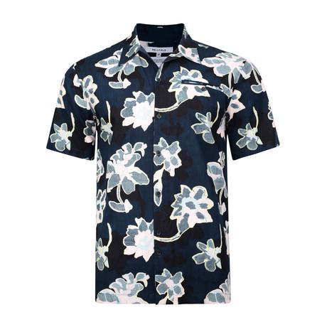 Hadrian Short Sleeve Shirt // Navy (S)