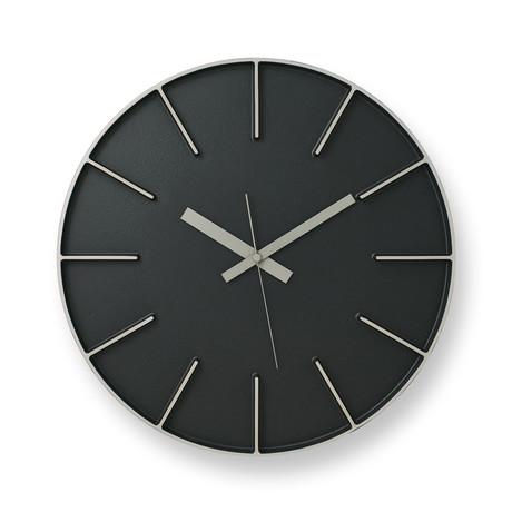 Edge Clock L // Black