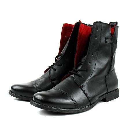 Masatti Cap Toe Boot // Black + Red (US: 7)