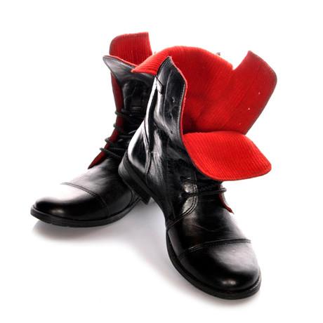 Masatti Cap Toe Boot // Black + Red II (US: 7)